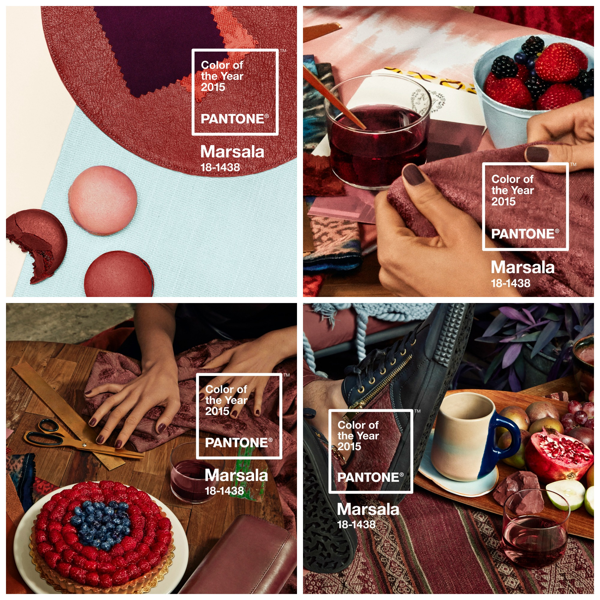 Pantone Marsala Color of the year 2015. Image: Courtesy of Pantone